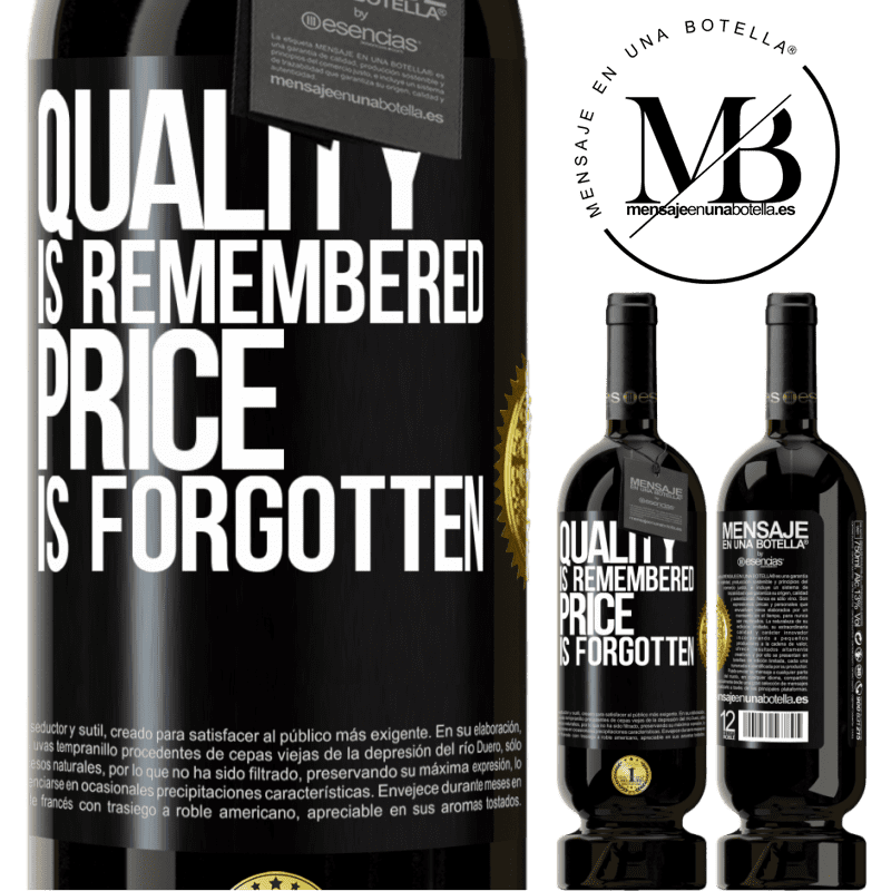29,95 € Free Shipping | Red Wine Premium Edition MBS® Reserva Quality is remembered, price is forgotten Black Label. Customizable label Reserva 12 Months Harvest 2013 Tempranillo