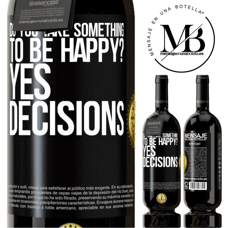 29,95 € Free Shipping | Red Wine Premium Edition MBS® Reserva do you take something to be happy? Yes, decisions Black Label. Customizable label Reserva 12 Months Harvest 2013 Tempranillo