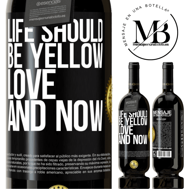 29,95 € Free Shipping | Red Wine Premium Edition MBS® Reserva Life should be yellow. Love and now Black Label. Customizable label Reserva 12 Months Harvest 2013 Tempranillo