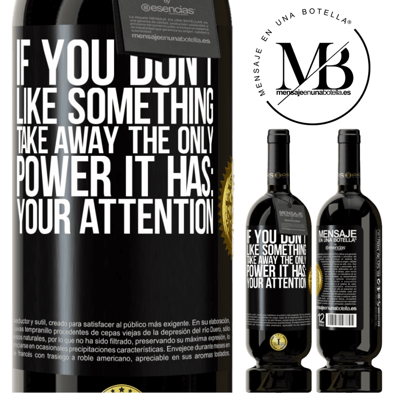 29,95 € Free Shipping | Red Wine Premium Edition MBS® Reserva If you don't like something, take away the only power it has: your attention Black Label. Customizable label Reserva 12 Months Harvest 2013 Tempranillo