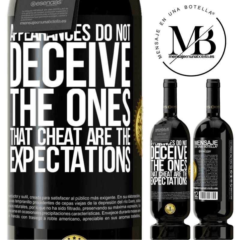 29,95 € Free Shipping | Red Wine Premium Edition MBS® Reserva Appearances do not deceive. The ones that cheat are the expectations Black Label. Customizable label Reserva 12 Months Harvest 2013 Tempranillo