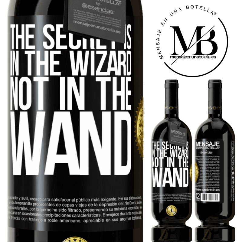 29,95 € Free Shipping   Red Wine Premium Edition MBS® Reserva The secret is in the wizard, not in the wand Black Label. Customizable label Reserva 12 Months Harvest 2013 Tempranillo