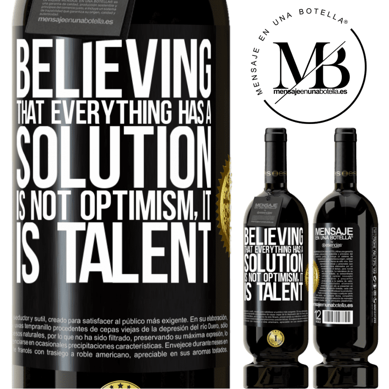 29,95 € Free Shipping | Red Wine Premium Edition MBS® Reserva Believing that everything has a solution is not optimism. Is slow Black Label. Customizable label Reserva 12 Months Harvest 2013 Tempranillo