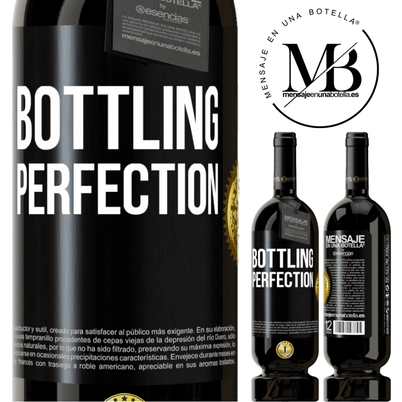 29,95 € Free Shipping | Red Wine Premium Edition MBS® Reserva Bottling perfection Black Label. Customizable label Reserva 12 Months Harvest 2013 Tempranillo