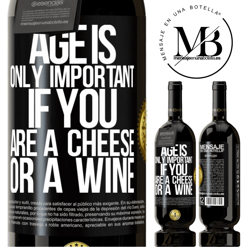 29,95 € Free Shipping | Red Wine Premium Edition MBS® Reserva Age is only important if you are a cheese or a wine Black Label. Customizable label Reserva 12 Months Harvest 2013 Tempranillo