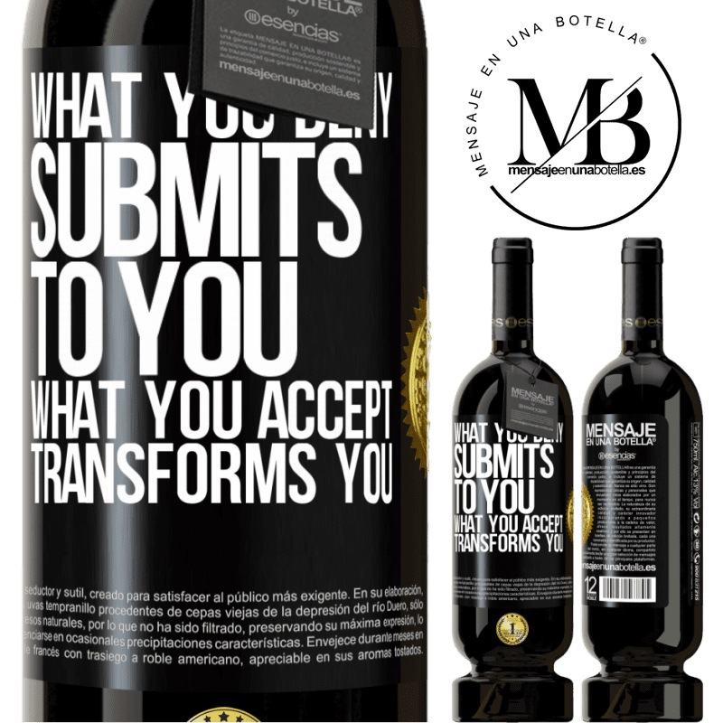 29,95 € Free Shipping | Red Wine Premium Edition MBS® Reserva What you deny submits to you. What you accept transforms you Black Label. Customizable label Reserva 12 Months Harvest 2013 Tempranillo