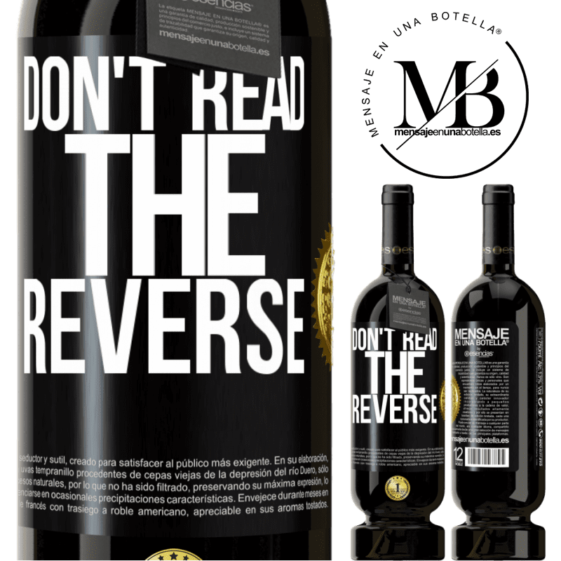 29,95 € Free Shipping | Red Wine Premium Edition MBS® Reserva Don't read the reverse Black Label. Customizable label Reserva 12 Months Harvest 2013 Tempranillo