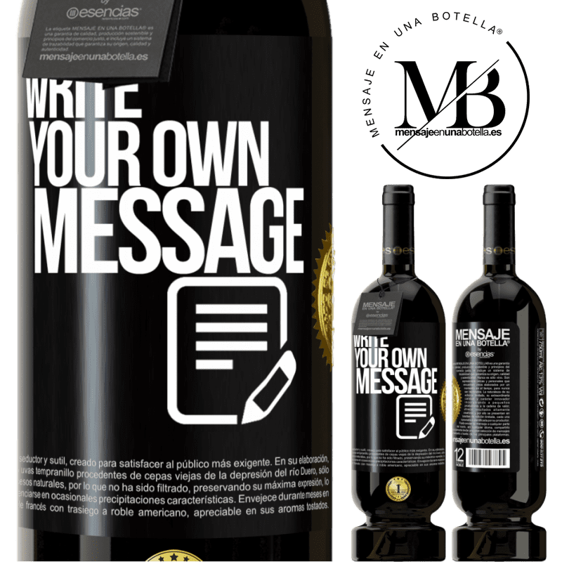29,95 € Free Shipping   Red Wine Premium Edition MBS® Reserva Write your own message Black Label. Customizable label Reserva 12 Months Harvest 2013 Tempranillo