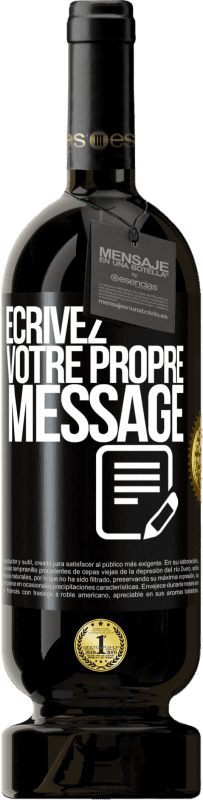 29,95 € Envoi gratuit | Vin rouge Édition Premium MBS® Reserva Écrivez votre propre message Étiquette Noire. Étiquette personnalisable Reserva 12 Mois Récolte 2013 Tempranillo