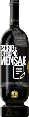 29,95 € Envío gratis | Vino Tinto Edición Premium MBS® Reserva Escribe tu propio mensaje Etiqueta Negra. Etiqueta personalizable Reserva 12 Meses Cosecha 2013 Tempranillo