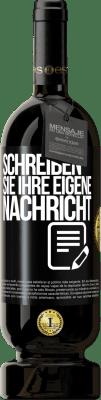 29,95 € Kostenloser Versand | Rotwein Premium Edition MBS® Reserva Schreiben Sie Ihre eigene Nachricht Schwarzes Etikett. Anpassbares Etikett Reserva 12 Monate Ernte 2013 Tempranillo