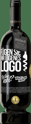 29,95 € Kostenloser Versand | Rotwein Premium Ausgabe MBS® Reserva Fügen Sie Ihr eigenes Logo Schwarzes Etikett. Anpassbares Etikett Reserva 12 Monate Ernte 2013 Tempranillo
