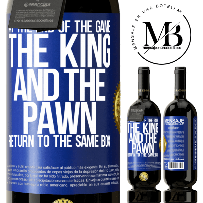 29,95 € Free Shipping   Red Wine Premium Edition MBS® Reserva At the end of the game, the king and the pawn return to the same box Blue Label. Customizable label Reserva 12 Months Harvest 2013 Tempranillo