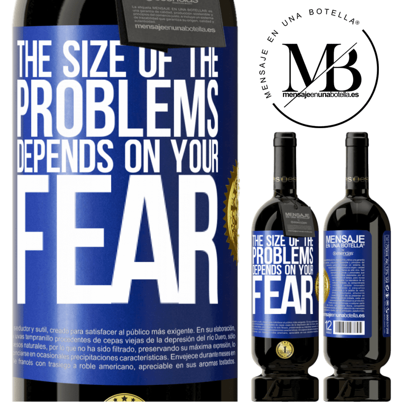 29,95 € Free Shipping | Red Wine Premium Edition MBS® Reserva The size of the problems depends on your fear Blue Label. Customizable label Reserva 12 Months Harvest 2013 Tempranillo