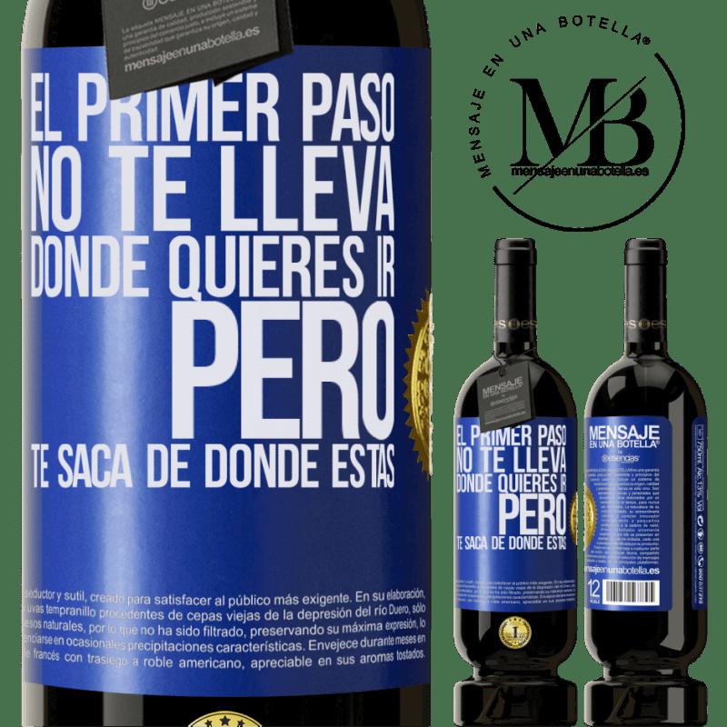 29,95 € Envoi gratuit | Vin rouge Édition Premium MBS® Reserva La première étape ne vous emmène pas où vous voulez aller, mais elle vous mène d'où vous êtes Étiquette Bleue. Étiquette personnalisable Reserva 12 Mois Récolte 2013 Tempranillo