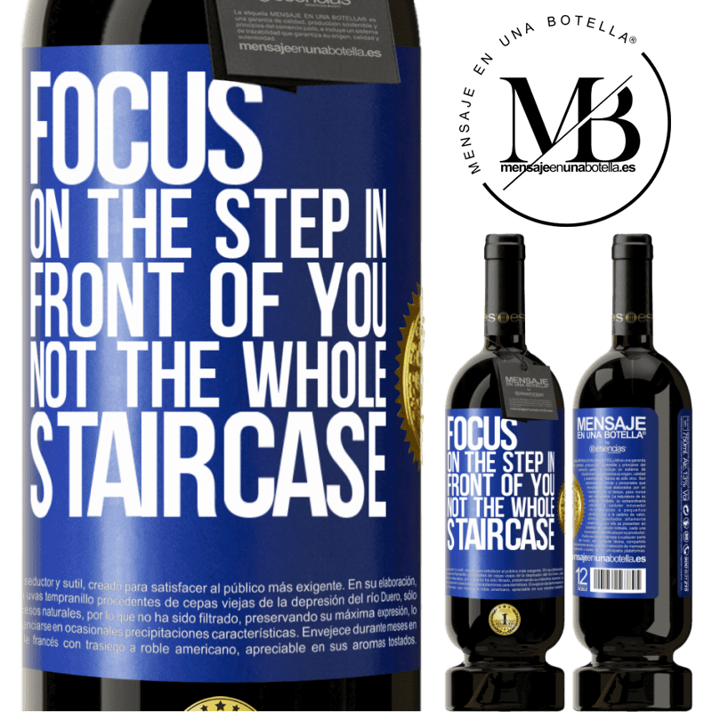 29,95 € Free Shipping | Red Wine Premium Edition MBS® Reserva Focus on the step in front of you, not the whole staircase Blue Label. Customizable label Reserva 12 Months Harvest 2013 Tempranillo