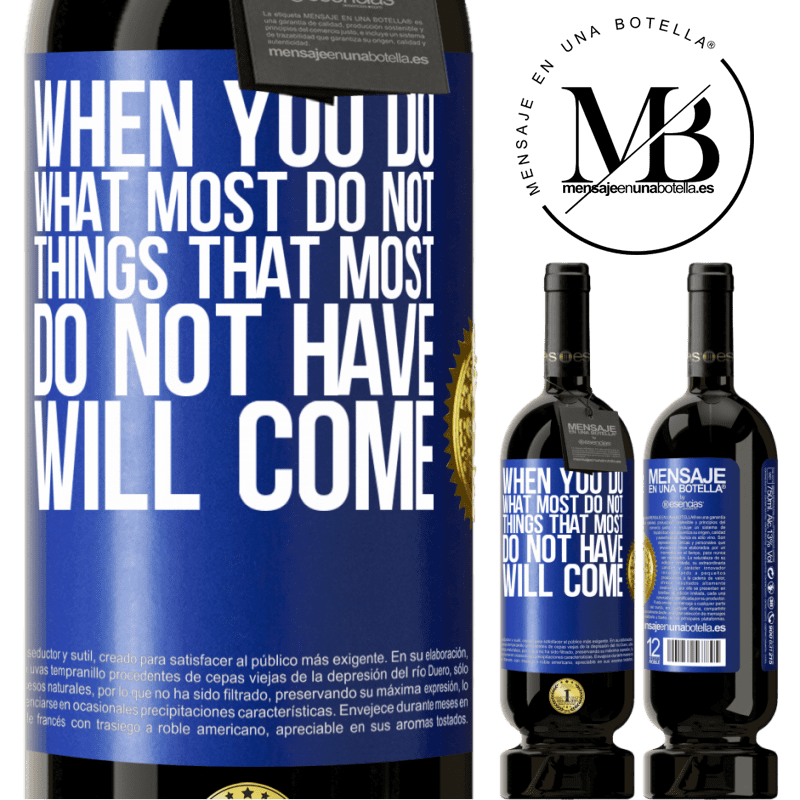 29,95 € Free Shipping | Red Wine Premium Edition MBS® Reserva When you do what most do not, things that most do not have will come Blue Label. Customizable label Reserva 12 Months Harvest 2013 Tempranillo