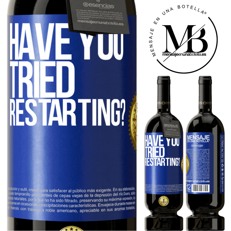 29,95 € Free Shipping   Red Wine Premium Edition MBS® Reserva have you tried restarting? Blue Label. Customizable label Reserva 12 Months Harvest 2013 Tempranillo