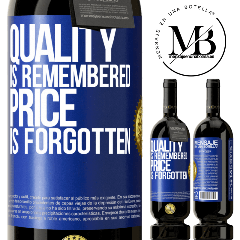 29,95 € Free Shipping | Red Wine Premium Edition MBS® Reserva Quality is remembered, price is forgotten Blue Label. Customizable label Reserva 12 Months Harvest 2013 Tempranillo
