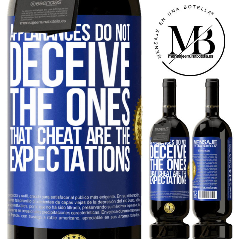 29,95 € Free Shipping | Red Wine Premium Edition MBS® Reserva Appearances do not deceive. The ones that cheat are the expectations Blue Label. Customizable label Reserva 12 Months Harvest 2013 Tempranillo