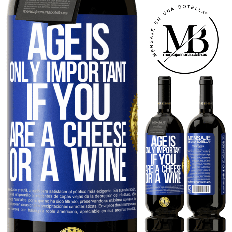 29,95 € Free Shipping | Red Wine Premium Edition MBS® Reserva Age is only important if you are a cheese or a wine Blue Label. Customizable label Reserva 12 Months Harvest 2013 Tempranillo