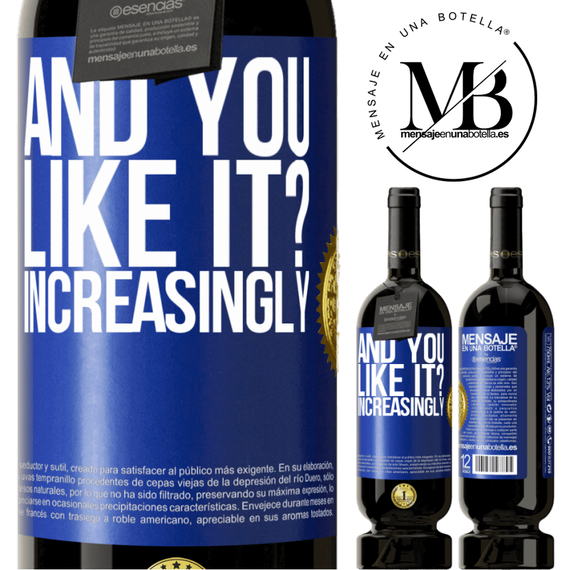 29,95 € Free Shipping | Red Wine Premium Edition MBS® Reserva and you like it? Increasingly Blue Label. Customizable label Reserva 12 Months Harvest 2013 Tempranillo