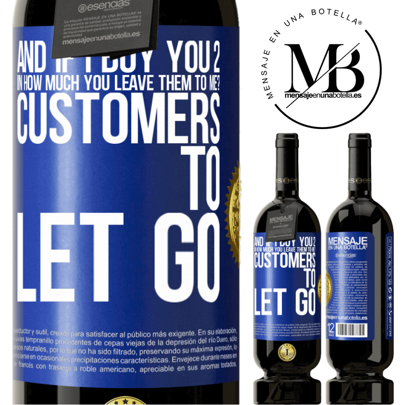 29,95 € Free Shipping | Red Wine Premium Edition MBS® Reserva and if I buy you 2 in how much you leave them to me? Customers to let go Blue Label. Customizable label Reserva 12 Months Harvest 2013 Tempranillo