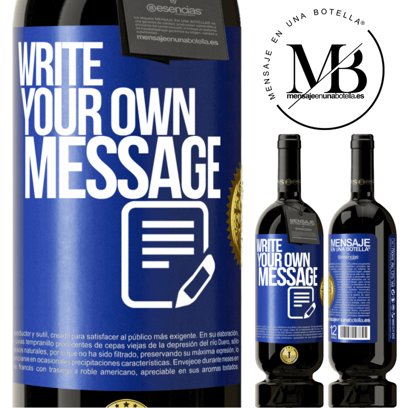 29,95 € Free Shipping   Red Wine Premium Edition MBS® Reserva Write your own message Blue Label. Customizable label Reserva 12 Months Harvest 2013 Tempranillo