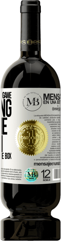 «At the end of the game, the king and the pawn return to the same box» Premium Edition MBS® Reserva