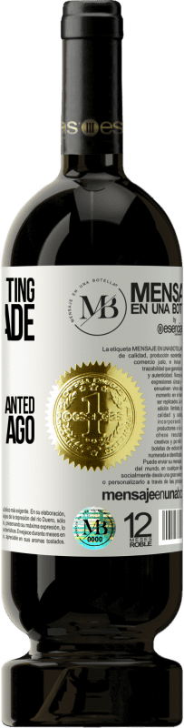 «Someone is sitting in the shade today, because someone planted a tree long ago» Premium Edition MBS® Reserva