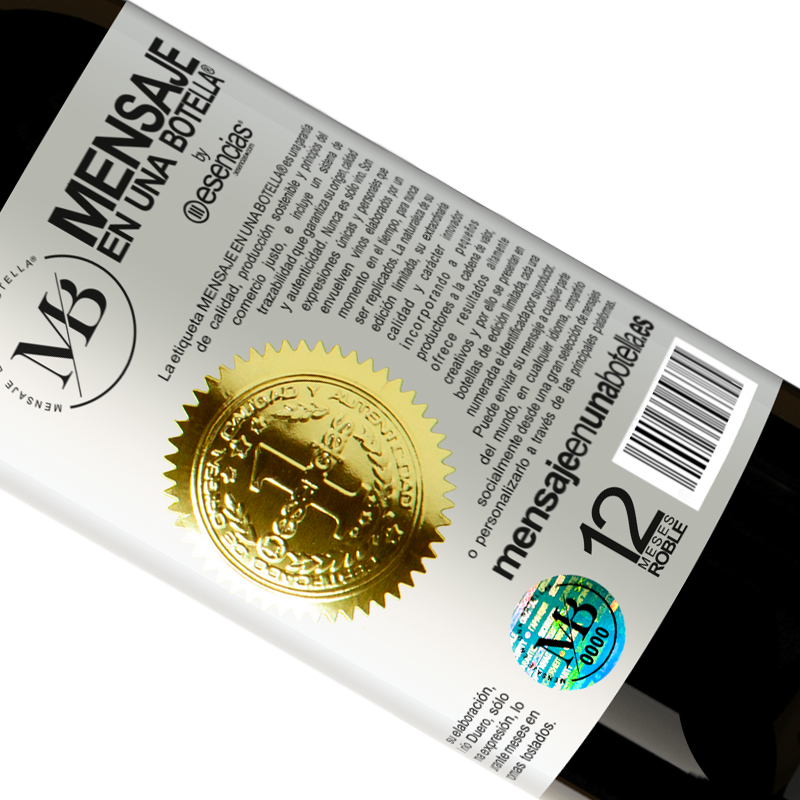 Limited Edition. «To any person of any SEX with each glass of this wine we give a lid for FREE» Premium Edition MBS® Reserva