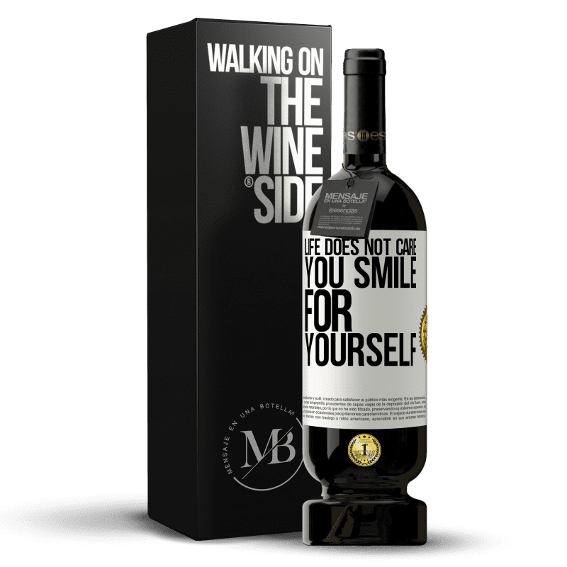29,95 € Free Shipping | Red Wine Premium Edition MBS® Reserva Life does not care, you smile for yourself White Label. Customizable label Reserva 12 Months Harvest 2013 Tempranillo