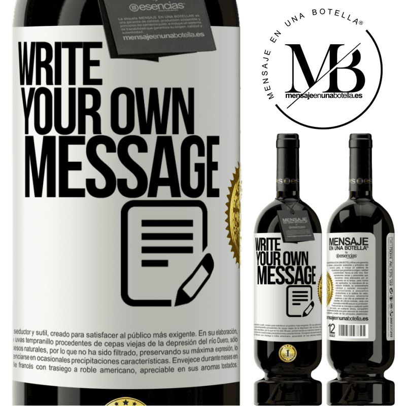 29,95 € Free Shipping   Red Wine Premium Edition MBS® Reserva Write your own message White Label. Customizable label Reserva 12 Months Harvest 2013 Tempranillo