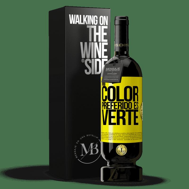 29,95 € Envoi gratuit | Vin rouge Édition Premium MBS® Reserva Mi color preferido es: verte Étiquette Jaune. Étiquette personnalisable Reserva 12 Mois Récolte 2013 Tempranillo