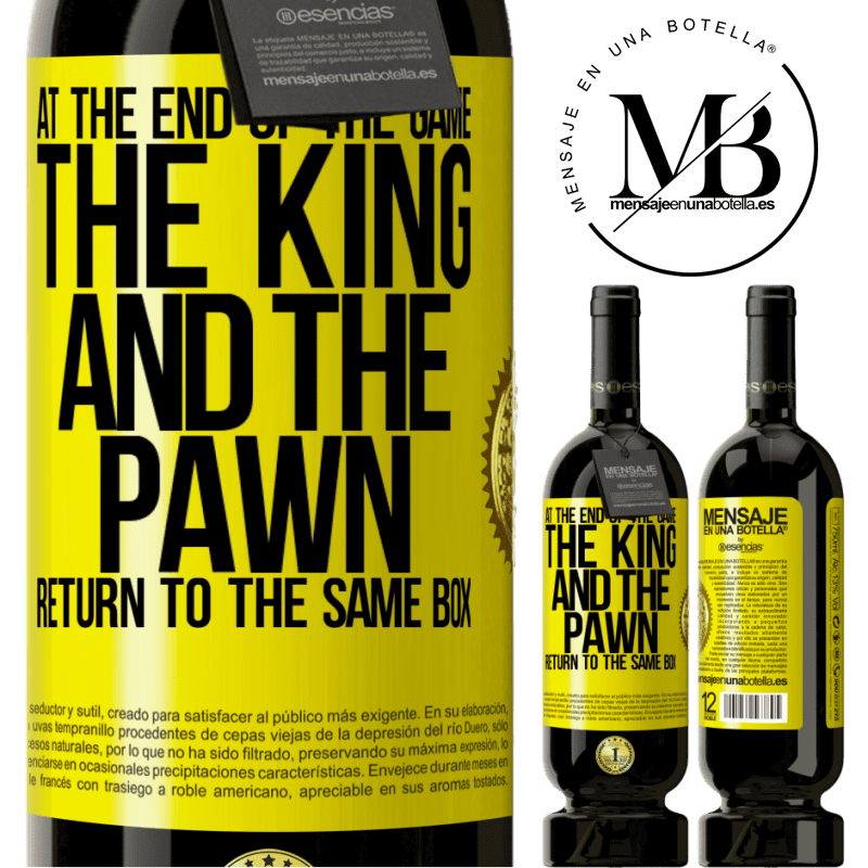 29,95 € Free Shipping   Red Wine Premium Edition MBS® Reserva At the end of the game, the king and the pawn return to the same box Yellow Label. Customizable label Reserva 12 Months Harvest 2013 Tempranillo