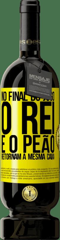 29,95 € Envio grátis | Vinho tinto Edição Premium MBS® Reserva No final do jogo, o rei e o peão retornam à mesma caixa Etiqueta Amarela. Etiqueta personalizável Reserva 12 Meses Colheita 2013 Tempranillo