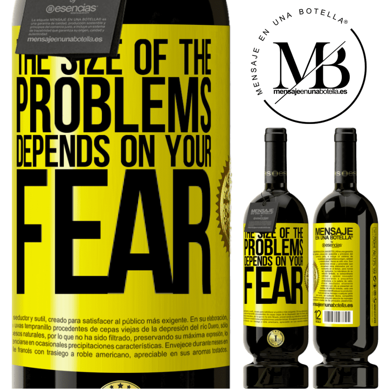 29,95 € Free Shipping | Red Wine Premium Edition MBS® Reserva The size of the problems depends on your fear Yellow Label. Customizable label Reserva 12 Months Harvest 2013 Tempranillo
