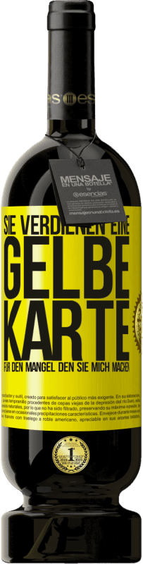 29,95 € Kostenloser Versand   Rotwein Premium Edition MBS® Reserva Sie verdienen eine gelbe Karte für den Mangel, den Sie mich machen Gelbes Etikett. Anpassbares Etikett Reserva 12 Monate Ernte 2013 Tempranillo