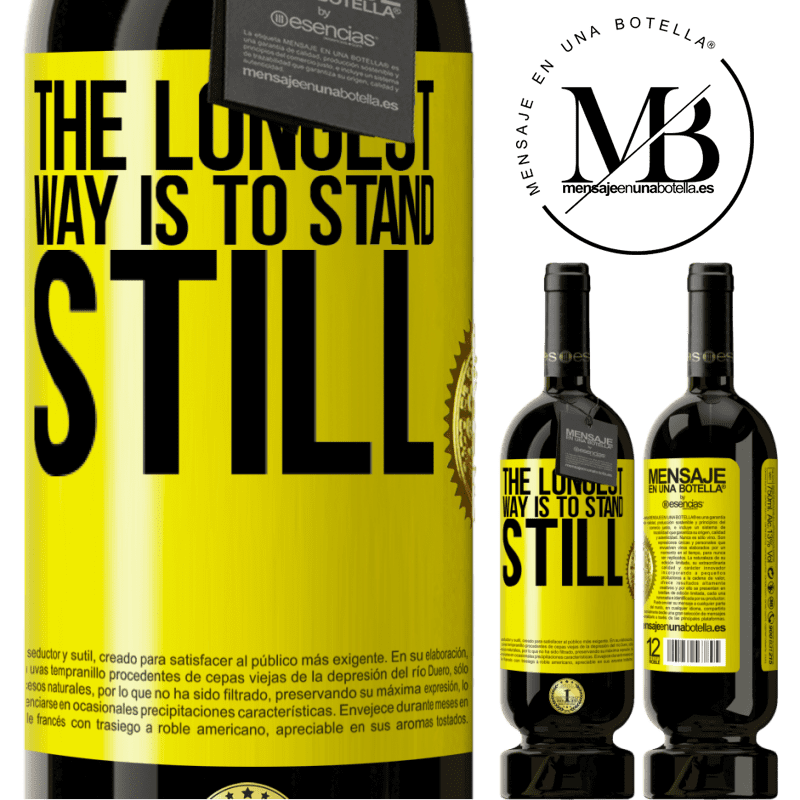 29,95 € Free Shipping | Red Wine Premium Edition MBS® Reserva The longest way is to stand still Yellow Label. Customizable label Reserva 12 Months Harvest 2013 Tempranillo
