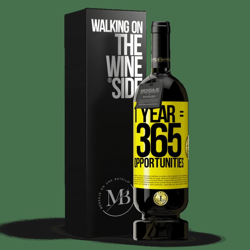 29,95 € Envoi gratuit | Vin rouge Édition Premium MBS® Reserva 1 year 365 opportunities Étiquette Jaune. Étiquette personnalisable Reserva 12 Mois Récolte 2013 Tempranillo