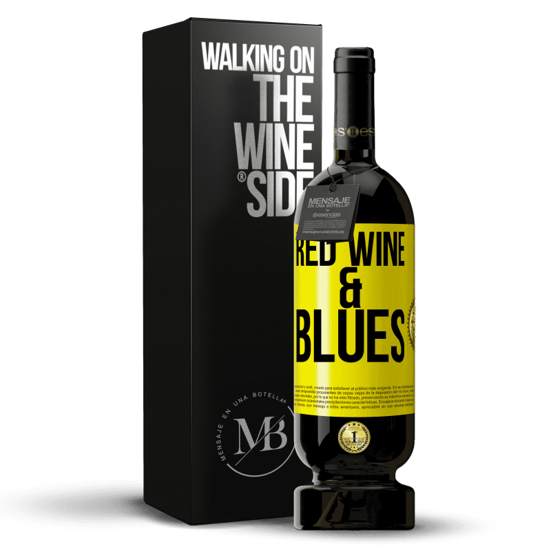 29,95 € Free Shipping | Red Wine Premium Edition MBS® Reserva Red wine & Blues Yellow Label. Customizable label Reserva 12 Months Harvest 2013 Tempranillo