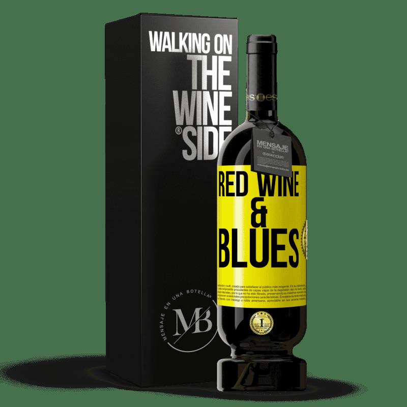 29,95 € Envoi gratuit | Vin rouge Édition Premium MBS® Reserva Red wine & Blues Étiquette Jaune. Étiquette personnalisable Reserva 12 Mois Récolte 2013 Tempranillo