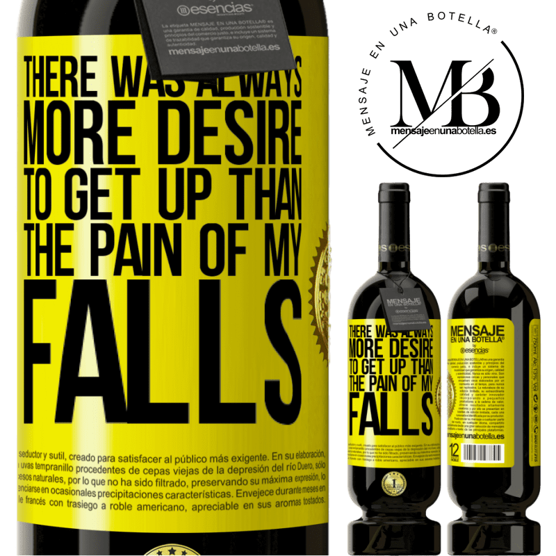 29,95 € Free Shipping | Red Wine Premium Edition MBS® Reserva There was always more desire to get up than the pain of my falls Yellow Label. Customizable label Reserva 12 Months Harvest 2013 Tempranillo