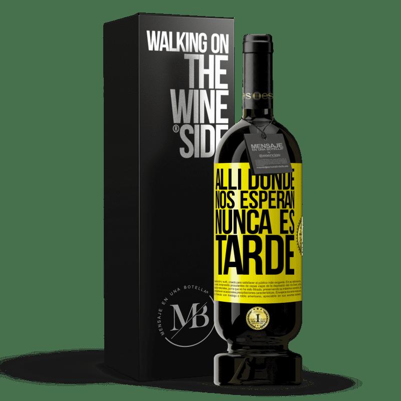 29,95 € Envoi gratuit   Vin rouge Édition Premium MBS® Reserva Où ils nous attendent, il n'est jamais trop tard Étiquette Jaune. Étiquette personnalisable Reserva 12 Mois Récolte 2013 Tempranillo