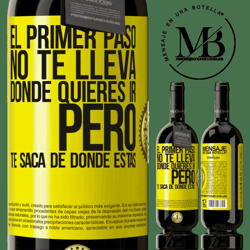29,95 € Envoi gratuit | Vin rouge Édition Premium MBS® Reserva La première étape ne vous emmène pas où vous voulez aller, mais elle vous mène d'où vous êtes Étiquette Jaune. Étiquette personnalisable Reserva 12 Mois Récolte 2013 Tempranillo