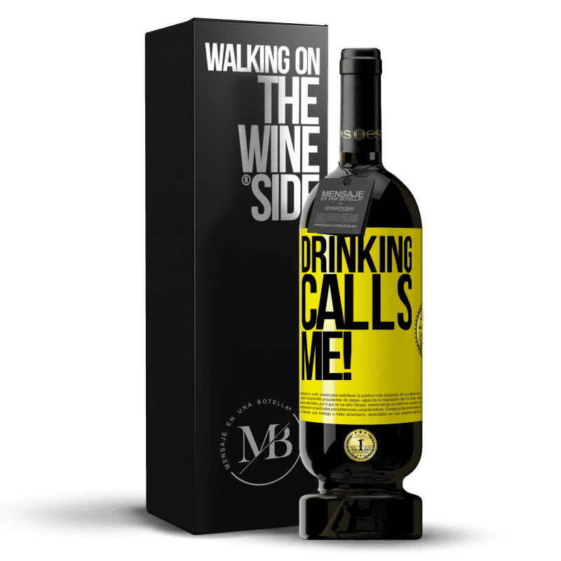 29,95 € Free Shipping | Red Wine Premium Edition MBS® Reserva drinking calls me! Yellow Label. Customizable label Reserva 12 Months Harvest 2013 Tempranillo