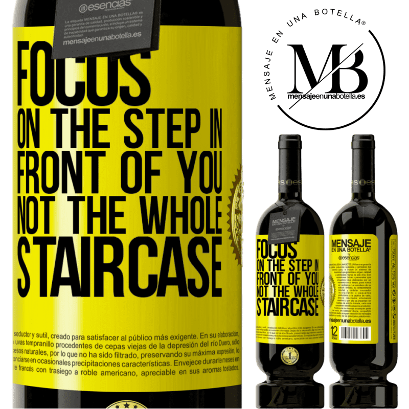 29,95 € Free Shipping | Red Wine Premium Edition MBS® Reserva Focus on the step in front of you, not the whole staircase Yellow Label. Customizable label Reserva 12 Months Harvest 2013 Tempranillo