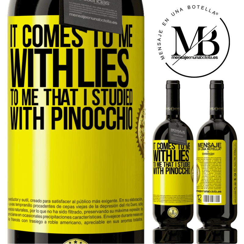 29,95 € Free Shipping | Red Wine Premium Edition MBS® Reserva It comes to me with lies. To me that I studied with Pinocchio Yellow Label. Customizable label Reserva 12 Months Harvest 2013 Tempranillo