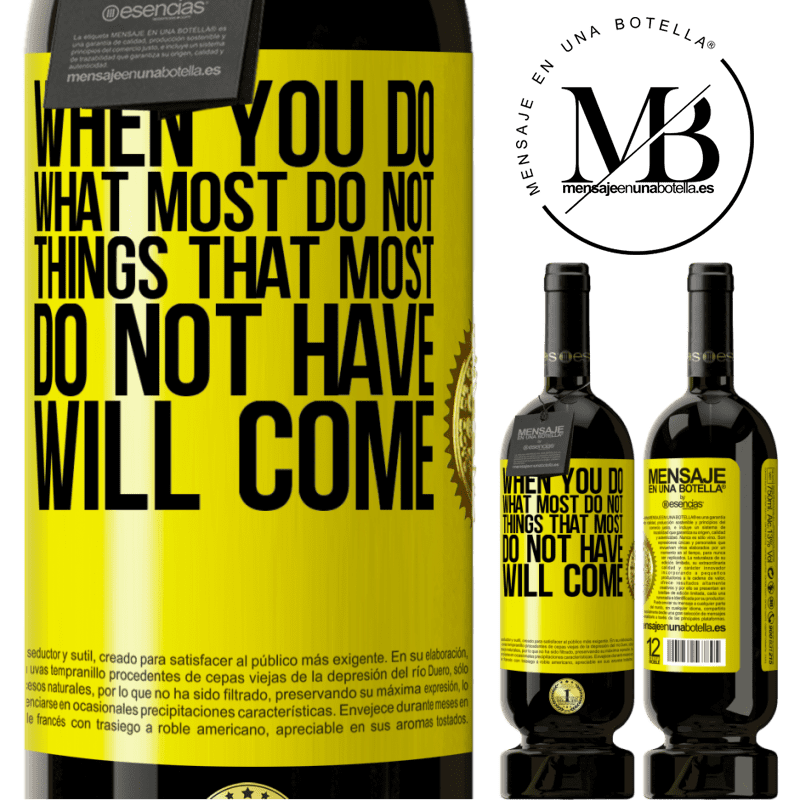 29,95 € Free Shipping | Red Wine Premium Edition MBS® Reserva When you do what most do not, things that most do not have will come Yellow Label. Customizable label Reserva 12 Months Harvest 2013 Tempranillo