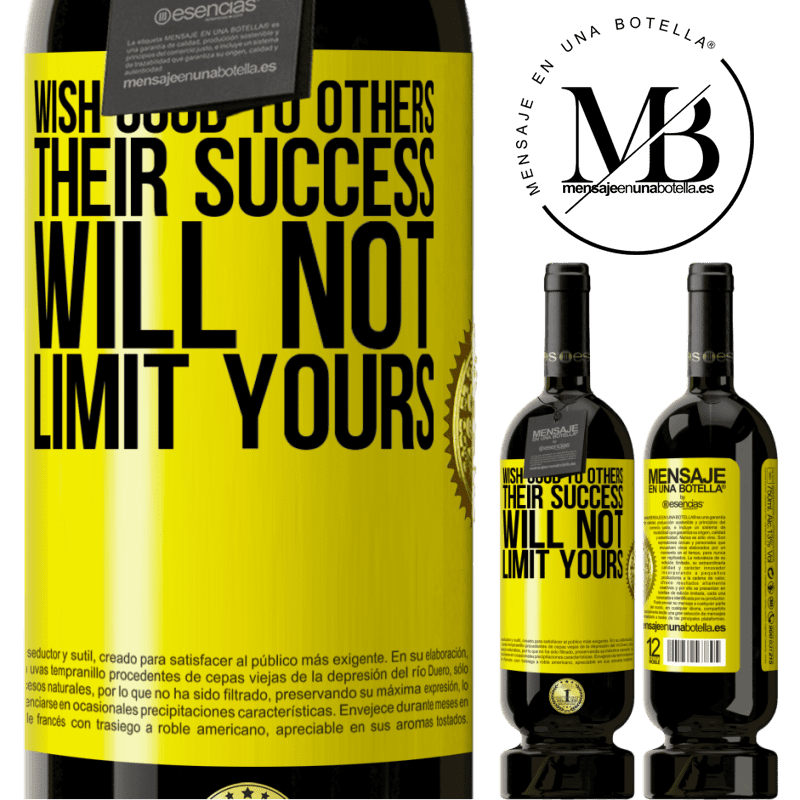 29,95 € Free Shipping   Red Wine Premium Edition MBS® Reserva Wish good to others, their success will not limit yours Yellow Label. Customizable label Reserva 12 Months Harvest 2013 Tempranillo